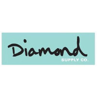 DIAMOND SUPPLY CO STICKER - OG SCRIPT - TEAL BLACK