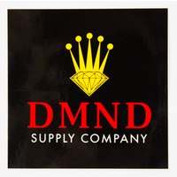 DIAMOND SUPPLY CO STICKER - CROWN - BLACK RED