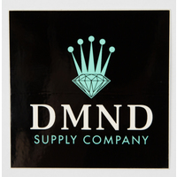 DIAMOND SUPPLY CO STICKER - CROWN - BLACK TEAL