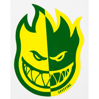 SPITFIRE - FIREBALL 2 TONE STICKER MEDIUM - GREEN YELLOW