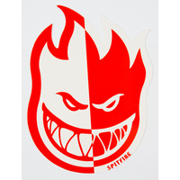 SPITFIRE - FIREBALL 2 TONE STICKER MEDIUM - WHITE RED