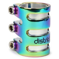 DISTRICT S SERIES TRIPLE CLAMP - OVERSIZED AND STANDARD - NEOCHROME