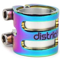 DISTRICT S SERIES DOUBLE CLAMP - OVERSIZED AND STANDARD - NEOCHROME