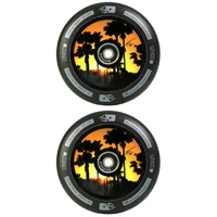 LUCKY HOLLOW CORE 110MM SCOOTER WHEEL SET - TANNER FOX SIGNATURE - BLACK EDITION