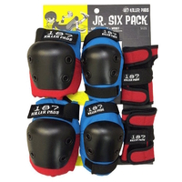 187 JUNIOR PROTECTIVE PAD SET - RED / BLUE