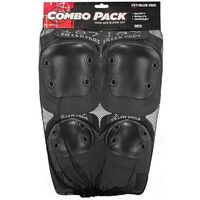 187 COMBO PACK - KNEE AND ELBOW PADS - SIZE SMALL TO MEDIUM - BLACK