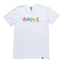 APEX SCOOTERS RAINBOW T-SHIRT - LARGE WHITE