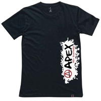 APEX SCOOTERS SPLASH T-SHIRT - LARGE BLACK