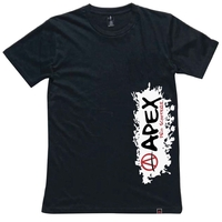 APEX SCOOTERS SPLASH T-SHIRT - EXTRA LARGE BLACK