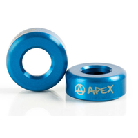 APEX ALUMINIUM BAR ENDS - SOLD AS PAIRS - BLUE