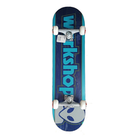 "ALIEN WORKSHOP COMPLETE SKATEBOARD 8.12"" - BAR LOGO LIGHT BLUE"