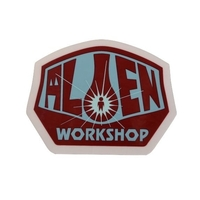 ALIEN WORKSHOP SKATEBOARD STICKER OG - BLUE RED X 1