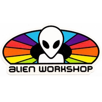 ALIEN WORKSHOP SKATEBOARD STICKER SPECTRUM X 1