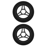 AZTEC 110MM SCOOTER WHEELS SET OF 2 - TRILOGY BLACK PU BLACK CORE