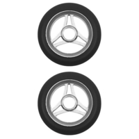 AZTEC 110MM SCOOTER WHEELS SET OF 2 - TRILOGY BLACK PU RAW CORE