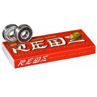 BONES SUPER REDS SKATEBOARD BEARINGS 8 PACK - GENUINE