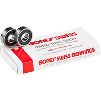 BONES SWISS SKATEBOARD BEARINGS 8 PACK - GENUINE