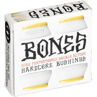 BONES SKATEBOARD BUSHINGS - MEDIUM WHITE