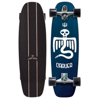 CARVER SKATEBOARD COMPLETE - POINT BREAK WITH C7 TRUCKS SILVER