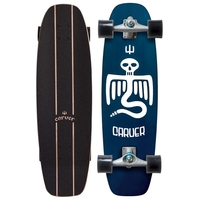 CARVER SKATEBOARD COMPLETE - POINT BREAK WITH CX TRUCKS SILVER