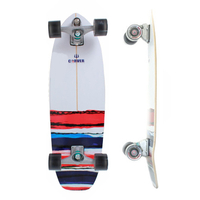 CARVER SKATEBOARD COMPLETE - USA RESIN WITH C7 TRUCKS SILVER