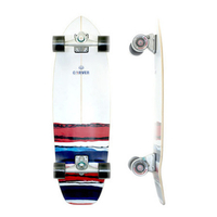 CARVER SKATEBOARD COMPLETE - USA RESIN WITH CX TRUCKS SILVER