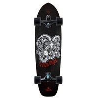 CARVER SKATEBOARD COMPLETE - YAGO DORA WITH C7 TRUCKS BLACK