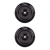 CHILLI 110MM THUNDER SCOOTER WHEELS SET OF 2 WITH BEARINGS - BLACK