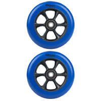 CHILLI 110MM TURBO SCOOTER WHEELS SET OF 2 WITH BEARINGS - BLUE BLACK
