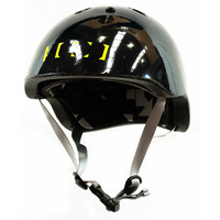 CODE SKATE HELMET - GLOSS BLACK - SIZE JUNIOR XS - SKATE SCOOTER