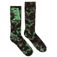 CREATURE TOX SOCKS BLACK GREEN TYE DYE