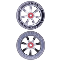 CRISP HOLLOWTECH 110MM WHEEL SET - SILVER BLACK GREY