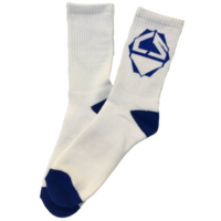 CRISP SCOOTERS SOCKS - WHITE / BLUE