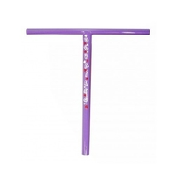 DERAILED SCOOTER BARS - PURPLE - 500MM HIGH - 31.8 STANDARD SIZE