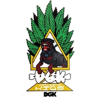 DGK SKATEBOARD STICKER - HOMAGE DOG X 1