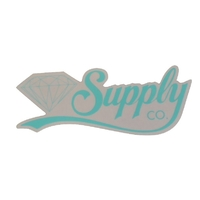 DIAMOND SUPPLY CO SKATEBOARD STICKER - SCRIPT BLUE X 1