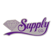 DIAMOND SUPPLY CO SKATEBOARD STICKER - SCRIPT PURPLE X 1