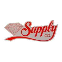 DIAMOND SUPPLY CO SKATEBOARD STICKER - SCRIPT RED X 1