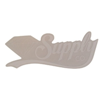 DIAMOND SUPPLY CO SKATEBOARD STICKER - SCRIPT WHITE X 1