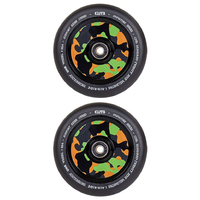 ELITE - 110MM AIR RIDE SCOOTER WHEELS SET OF 2 WITH BEARINGS - BLACK CAMO