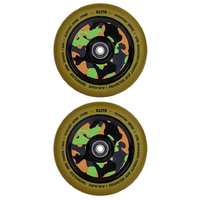 ELITE - 110MM AIR RIDE SCOOTER WHEELS SET OF 2 WITH BEARINGS - GUM CAMO