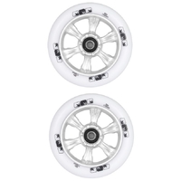 ENVY 6 SPOKE 110MM SCOOTER WHEELS SET OF 2 - WHITE SILVER