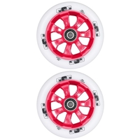ENVY 7 SPOKE 110MM SCOOTER WHEELS SET OF 2 - WHITE RED