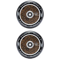 ENVY 120MM HOLLOW CORE SCOOTER WHEELS SET OF 2 - GOLD BANDANA