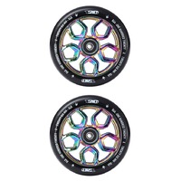 ENVY 120MM LAMBO SCOOTER WHEELS SET OF 2 - OIL SLICK / NEOCHROME