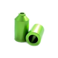 ENVY SCOOTER PEGS - GREEN - SET OF 2 WITH HIGH TENSILE AXLES - ALU