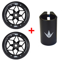 ENVY 110MM DIAMOND WHEELS + 4 BOLT CLAMP COMBO PACK