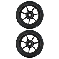 ETHIC SCOOTER WHEEL SET OF 2 WITH BEARINGS - INCUBE - BLACK - 100MM