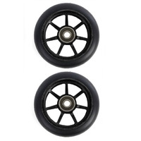 ETHIC SCOOTER WHEELS SET OF 2 WITH BEARINGS - INCUBE - BLACK - 110MM