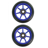 ETHIC SCOOTER WHEELS SET OF 2 WITH BEARINGS - INCUBE - BLUE - 110MM